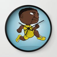 runner Wall Clocks featuring Runner by Jordygraph