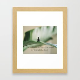 UNIQUE | Buddha | Nature | Planet | Plants | Serenity | Love | Design | Framed Art Print