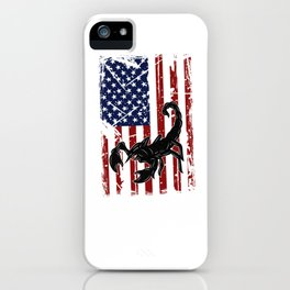 American Flag USA Insects Scorpion American Flag iPhone Case