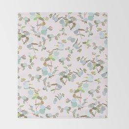 eucalyptus sprig Throw Blanket