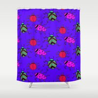 bugs Shower Curtains featuring Bugs by Sheefteh