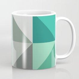 Triangles in turquoise Coffee Mug