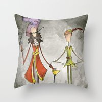 hook Throw Pillows featuring Pan & Hook by Jena Sinclair