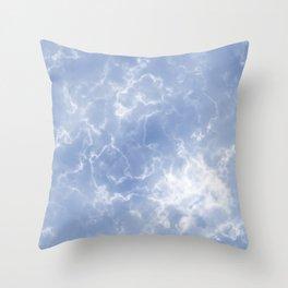 Blue Calcite Throw Pillow