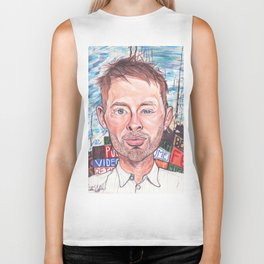 Thom Yorke Radiohead Hail to The Theif Biker Tank