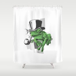 Elementary My Dear Frogson Shower Curtain