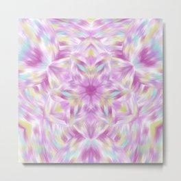 Joy of Abundance Digital kaleidoscope Art  Metal Print
