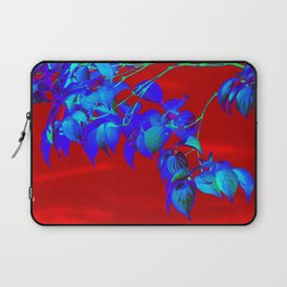 Red Sky And Blue Leaves Laptop Sleeve