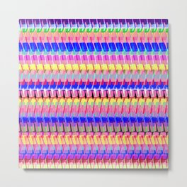 Pretty Simple Stripe Metal Print