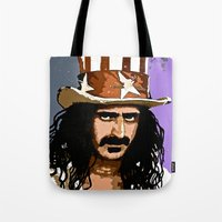 zappa Tote Bags featuring Zappa by Saundra Myles