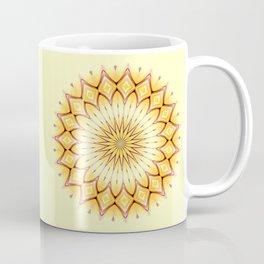 Golden Star Mandala Coffee Mug
