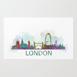 London UK Skyline HQ watercolor Rug