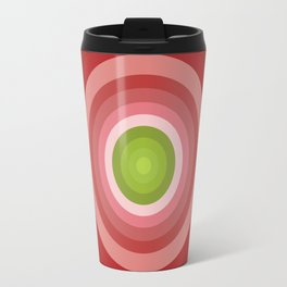 Beetroot Pink Circles Travel Mug