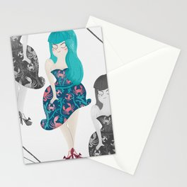 RETRO BLUE Stationery Cards