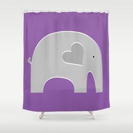 Purple Safari Elephant Shower Curtain