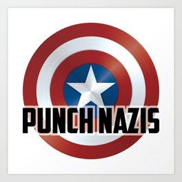 Punch Nazis Art Print