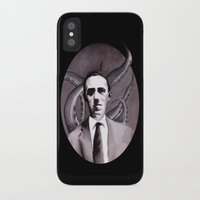 cthulu iPhone & iPod Cases featuring Shuddering At The Nameless Things by Zombie Rust