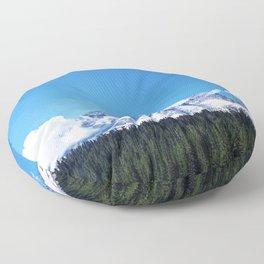 Mount Rainier, Washington Floor Pillow