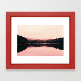Bar Harbor Reflection Framed Art Print