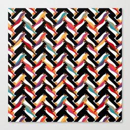 herringbone penguin Canvas Print