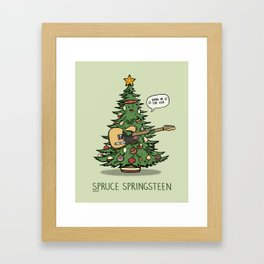 Spruce Springsteen Framed Art Print