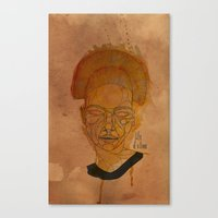 The woman with the black necklace Canvas Print