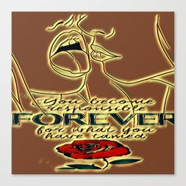 Forever love Canvas Print