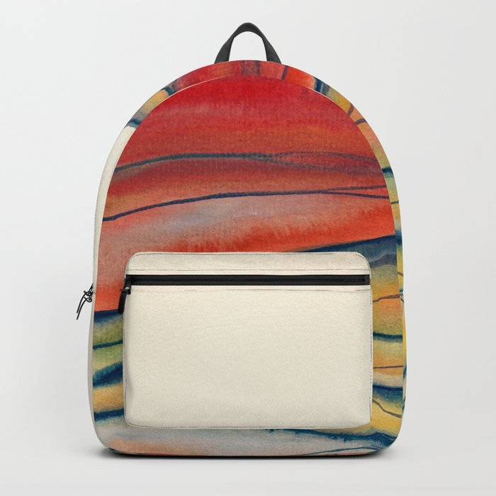 Watercolor abstract landscape 28 Backpack