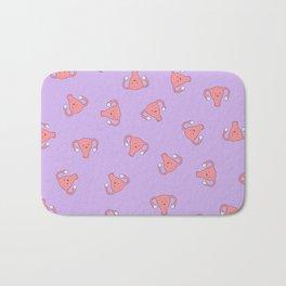 Crazy Happy Uterus in Purple, Large Bath Mat