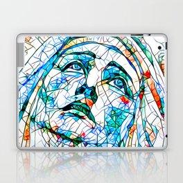 Glass stain mosaic 8 - Madonna, by Brian Vegas Laptop & iPad Skin