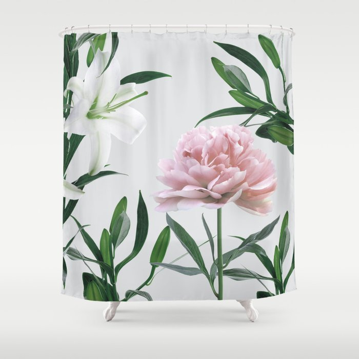 Vintage Botanical Shower Curtain By Tamsinlucie