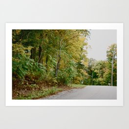 Road Bend Art Print