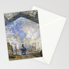 Claude Monet - The Saint-Lazare Station - Digital Remastered Edition Stationery Cards