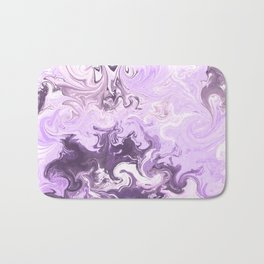 Abstract modern lavender burgundy watercolor marble pattern Bath Mat