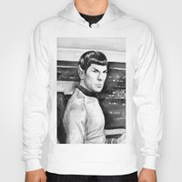 spock Hoodies featuring Spock by Olechka