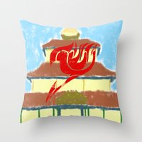 fairy tail Throw Pillows featuring Fairy Tail Segmented by JoshBeck