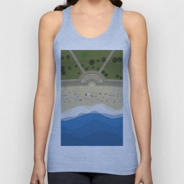 Coogee Beach Sydney | Aerial Illustration Unisex Tank Top