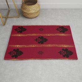 Chic Classique Art Deco Burgundy Red Rug