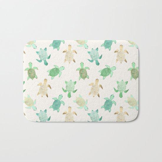 Gilded Jade & Mint Turtles Bath Mat