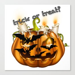 Trick or treat? Canvas Print