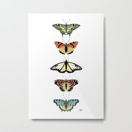 Not so real Butterflies colourful Metal Print