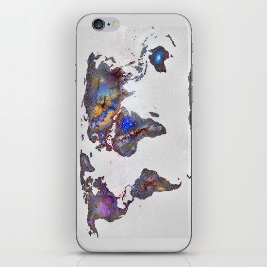 Stars world map iPhone & iPod Skin