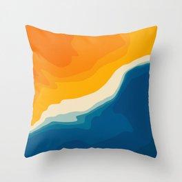 Seascape aerial view Throw Pillow