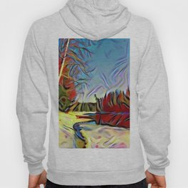 Break-up on the mountain taiga river Hoody