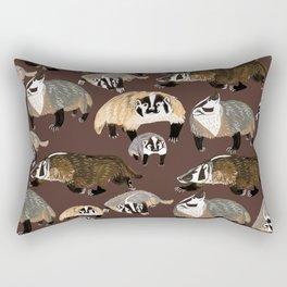 American badger Rectangular Pillow