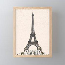 ArtWork Tower Eiffel Paris France Painting Art Print Framed Mini Art Print