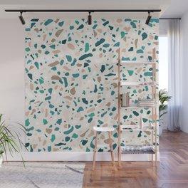 Terrazzo Turquoise Pattern Wall Mural