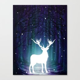 Magic Deer Canvas Print