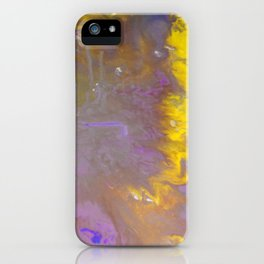 Blue & Yellow iPhone Case