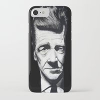 david lynch iPhone & iPod Cases featuring David Lynch by Black Neon